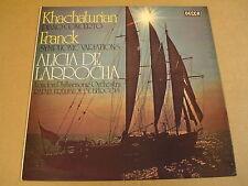 LP DECCA SXL 6599 / ALICIA DE LARROCHA - KHACHATURIAN & FRANCK