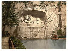 Lion Monument Lucerne I A4 Photo Print