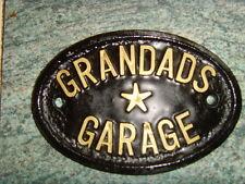Grandads Garage Sign Workshop House Door Plaque