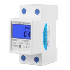 DDS528 5-32A 230V LCD Digital Single Phase Energy Watt KWh Meter DIN Rail Mount
