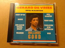CD / GERARD DE VRIES: SPEL KAARTEN (HOLLANDS GOUD)