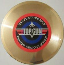 "TOP GUN GOLD RECORD DISPLAY ON 10"" GOLD VINYL"