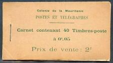 MAURITANIE 1913 DALLAY 1 CARNET RRR (L2290b