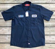 FORD Mechanic DICKIES Navy Blue Polycotton Auto Shop Shirt Men's L New w/ Tags