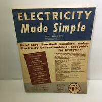 1959 Electricity Made Simple Magazine By Henry Jacobowitz