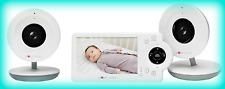 "Project Nursery Pnm4N12 Video Baby Monitor w/ 2 Cameras and 4.3"" Screen - White"
