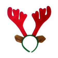 Womens Mens Santa Hat Headband Reindeer Antlers Father Christmas Fancy Dress