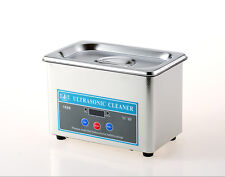 220V Stainless Steel Dental Ultrasonic Parts Cleaner Sonic Cleaning Equipment Nu