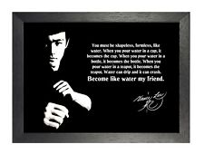 Bruce Lee Water Quote Hong Kong American Actor Film Martial Arts Poster Photo