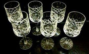 Vintage Set of 6 Lovely Quality Stem Bohemian Crystal Aperitif Glass/Wine Glass,