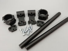 "43mm Riser Clip-on Assembly with 2-1/2"" Risers  and 12"" black bars - 12-4543"