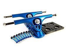 """Paris 180mm V2 Longboard Trucks Blue w/ 1/4"""" Riser Pad + 1.5"""" Hardware"""