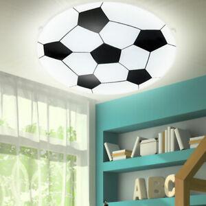LED Decken Lampe Jungen Fußball Design Wand Leuchte Kinder Zimmer Glas satiniert