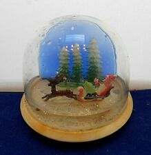 Vintage Christmas Snow Globe Vintage Plastic Made in Hong Kong 1960s Xmas