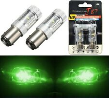 LED Light 30W 2357 Green Two Bulbs Front Turn Signal Replacement Show Use Lamp