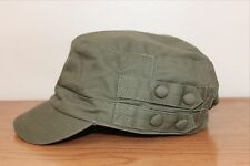Womens Military Style Fashion Cap Olive Green 100% Cotton