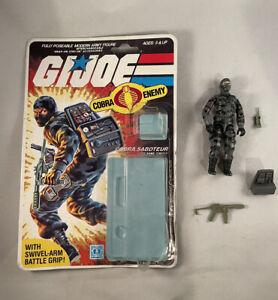 Vintage GI Joe-Hasbro-ARAH-Cobra Firefly-Figure-Cardback/Bubble-COMPLETE-1984