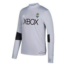 Seattle Sounders FC MLS Adidas Grey Climacool Long Sleeve Gen Training Jersey
