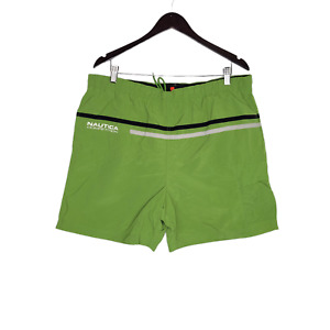 Vintage Nautica Competition Swim Trunks Large Green Striped