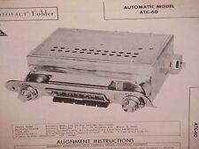 1959 1960 CHEVROLET IMPALA CONVERTIBLE BELAIR EL CAMINO AM RADIO SERVICE MANUAL