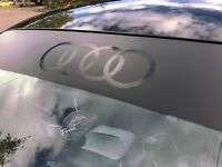 Audi Sun Strip Matte Black & Gloss Black Badge/logo (A3,TT,TTRS,TTS,R8,RS3)