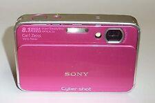 PINK Sony Cyber-shot DSC-T2 8.1 MP Digital Camera 4GB memory - WORKING but READ