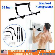 Multi-Grip Doorway Chin-Up/Pull-Up Bar Heavy Duty Trainer Home Gym Fitness UAS