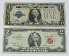 1928-B $1 One Dollar Silver Cert & 1963 $2 Two Dollars STAR Replacement Note