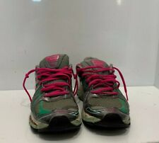 ASICS Sneakers Ladies Size 8 Pink Turquoise Trainers Memory Foam Track Runner A