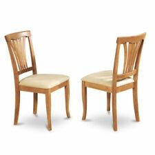 East West Furniture Avc-oak-c Chair Set With Cushion Seat Oak Finish of 2