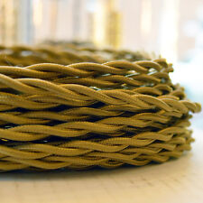 Harvest Wheat - Cloth Covered Electrical Wire 25 ft - Braided wire - Fabric wire
