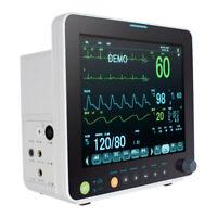 "ICU Pro 12"" Vital Sign Patient Monitor ECG NIBP RESP SPO2 PR TEMP 6 paras alarm"