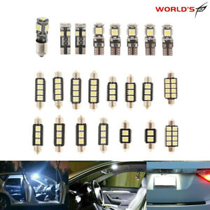 23pc Canbus LED Car Interior Lamp Dome Trunk Map License Plate Lamp Bulb White