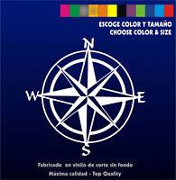 Pegatina Rosa de los Vientos - Vinilo - Vinyl - Brújula - Tuareg Dakar - Sticker