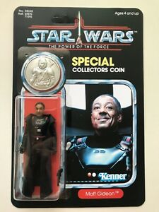 RETRO COLLECTION MOFF GIDEON ON  POWER OF THE FORCE CARD & COIN SILVER COIN or ?