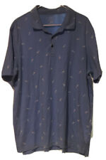 George XL Polo Shirt Light Blue Pineapple Graphic