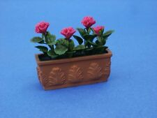 Miniature Dollhouse Hanging Flower Basket Pitunias 1 12 Scale A1679