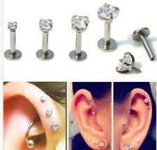 Ear Rhinestone Stainless Steel Stud Body Piercing Jewellery