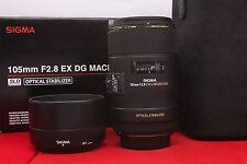 Sigma 105mm f/2.8 EX DG OS HSM Macro Lens - Nikon F Mount UU