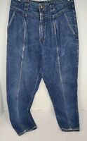 Vintage 80's Filippo Totti Stone Washed Tapered Leg Mom Blue Jeans 13/14