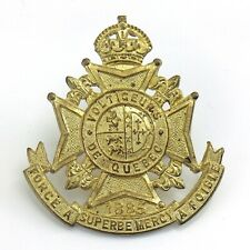 Volticeurs De Quebec 1885 Force A Superbe Mercy Foible Cap Badge 2in 13.8g J097