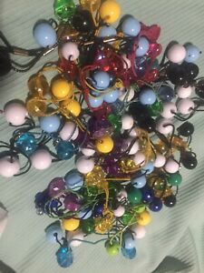 50+ Pc Vintage Goody Twin Bead Ponytail Holders Colors Hair Tie LOT *Read Descr*