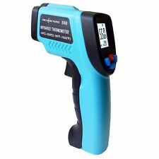 Infrared Thermometer Laser Temperature Gun Pyrometer Aquarium Emissivity Adjust.