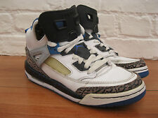 Nike Air Jordan Spizike BOY'S Cuir Blanc Bleu Noir Hi Baskets. Taille UK 5.5