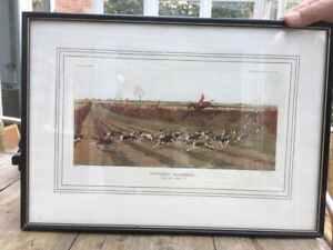 Set of 4 hunting prints by Cecil Aldin