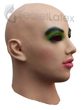 Latex Rubber Female Mask doll Fancy Cross Dress Tête Complète Visage Capuche Femme Lady