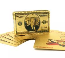 TRUMP 2020 Gold Poker Cards Gold Plated Deck of Palying Cards for Game Table