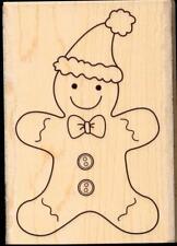 HERO ARTS rubber stamp GINGERBREAD SANTA  wood mounted, Christmas
