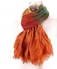 écharpe chèche étole femme fantaisie orange neuf