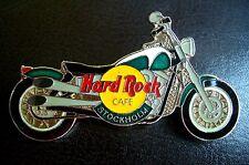 HRC Hard Rock Cafe Stockholm Green White Harley Fat Boy Motorcycle